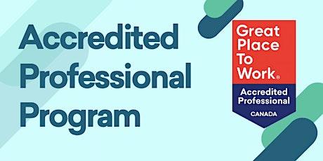 Accredited Professional Program 2020 biglietti