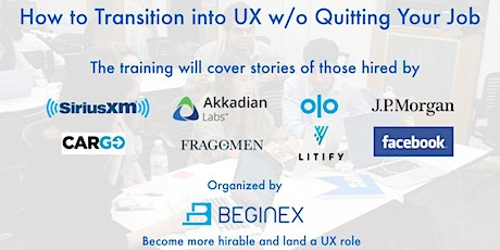 [Virtual Training] How to Transition into UX w/o Quitting Your Job tickets