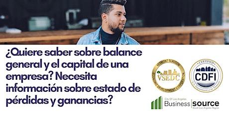 Seminario Web - Comprensión de sus estados financieros (balance general) tickets