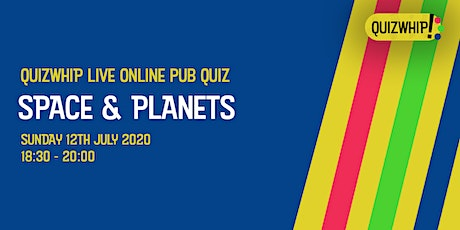 Space & Planets - Live Online Pub Quiz from QuizWhip tickets