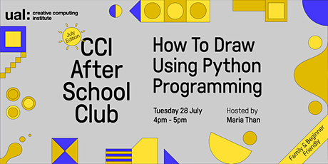 CCI After School Club: How To Draw Using Python Programming tickets
