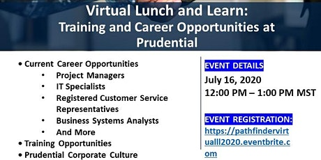 USO El Paso  Pathfinder Virtual Lunch and Learn:  Prudential tickets