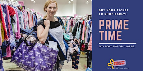 PRIME TIME Shopping Pass | JBF Coral Springs | Aug 5 tickets