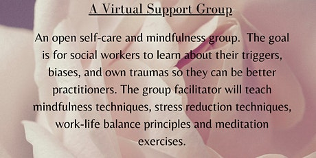 A Virtual  Self-Care Support Group for Social Workers tickets