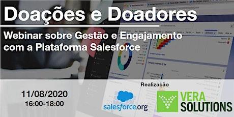 Doações e Doadores - Gestão e Engajamento com Salesforce NPSP ingressos