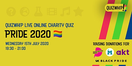 Pride 2020 - Live Online Charity Fundraising Pub Quiz tickets