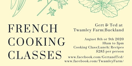 French Cooking Classes tickets