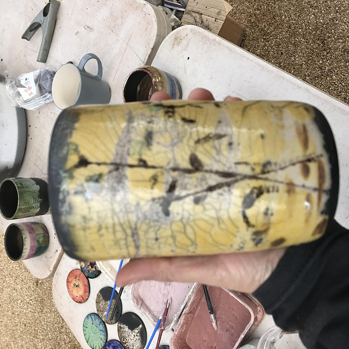 Alternative firing pottery retreat including raku, horsehair raku and pit image