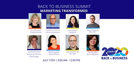 Back to Business 2020:  Marketing Transformed tickets