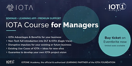 IOTA Course for Managers // Seminar + Learning App + Premium Support tickets