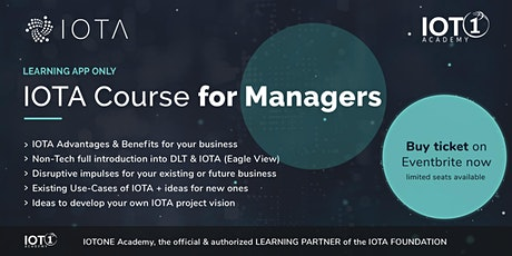 IOTA Course for Managers // Learning App Only (pure digital, no  support) tickets