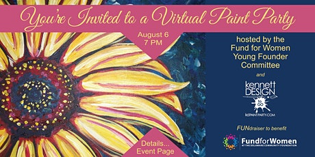 Colorful Sunflower - Virtual Painting Fundraiser - Fund for Women DE tickets