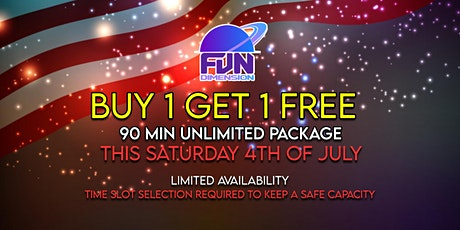 BUY 1 GET ONE FREE 90 MINUTES UNLIMITED ATTRACTIONS AND GAMES tickets
