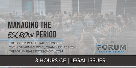 Copy of CE - Legal Issues - Managing the Escrow Period tickets