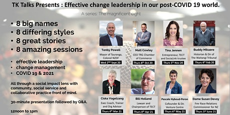 Buddy Mikaere : Effective change leadership in our post-COVID 19 world. tickets