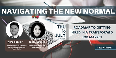 Webinar: Roadmap to Getting Hired in a Transformed Job Market tickets