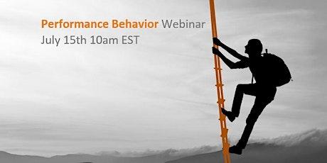 """Performance Behavior"" Webinar tickets"