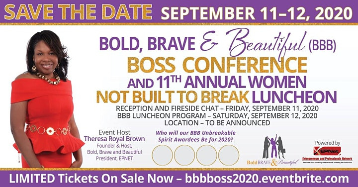 BBB Boss Conference and Bold, Brave & Beautiful 11th Annual Women Not Built image
