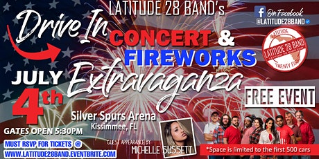 Latitude28's Drive In Concert and Fireworks Extravaganza! tickets