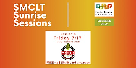 Social Media Charlotte Sunrise Session with Sabor Latin Street Grill tickets