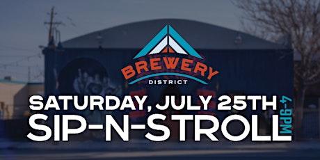 Brewery District Sip-n-Stroll tickets