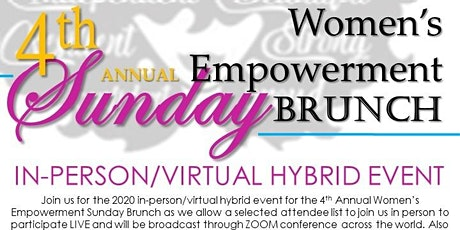 4th Annual Women's Empowerment Sunday Brunch tickets