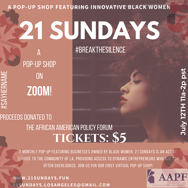 21 Sundays: A Monthly Pop-Up Shop Featuring Innovative Black Women image