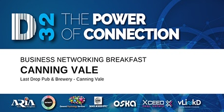 District32 Business Networking Perth – Canning Vale - Thu 20th Aug tickets