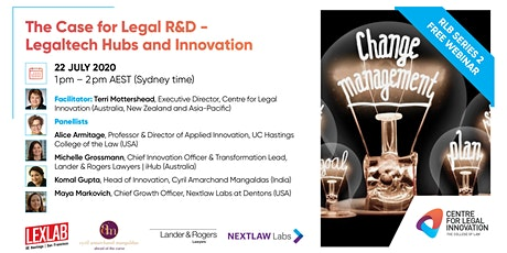 RLB: The Case for Legal R&D - Legaltech Hubs and Innovation tickets