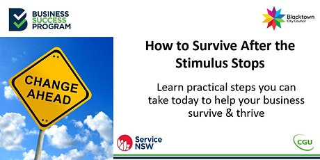 How to Survive After the Stimulus Stops tickets