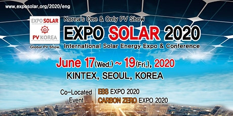 EXPO Solar 2020 / PV KOREA tickets