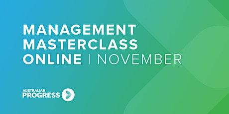 Management Masterclass Online | November tickets