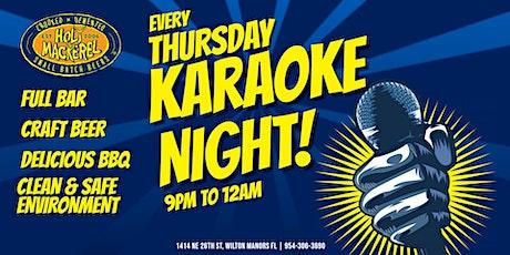 Thursday Night Karaoke at Holy Mackerel tickets