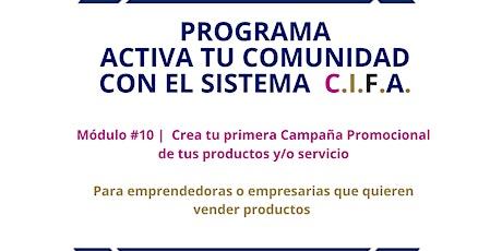 Módulo #10 | Crea tu primera Campaña Promocional de tus productos y/o serv tickets