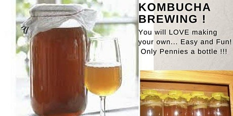 Learn to Make Kombucha-Virtual Class tickets