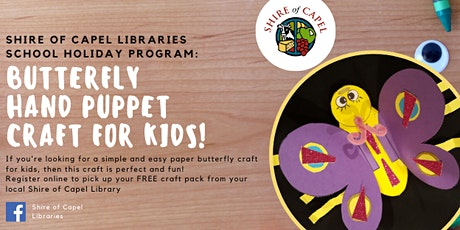 Butterfly Puppet Craft Workshop | Boyanup Library tickets
