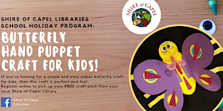 Butterfly Puppet Craft Workshop | Capel Library tickets
