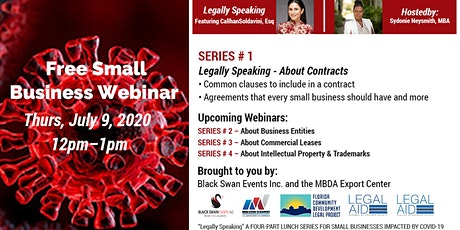 FREE Small Business Web Series with Legal advice about Contracts & more tickets