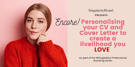 Personalising Your CV and Cover Letter to Create a Livelihood You Love tickets