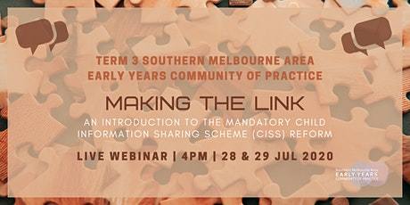 Term 3 Early Years Community of Practice Live Webinar tickets