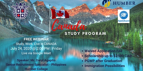 FREE WEBINAR: STUDY, WORK AND LIVE ABROAD in CANADA tickets