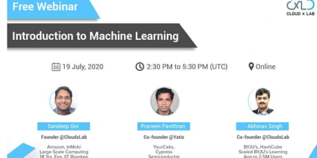 Free Live Online Webinar on Introduction to Machine Learning bilhetes