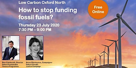 How to stop funding fossil fuels? tickets