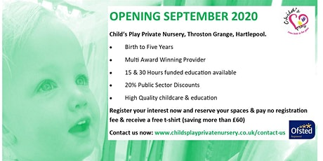 Child's Play Private Nursery- OPEN DAY- Hartlepool tickets