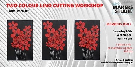 Two Colour Lino Cutting  Members only workshop - Jan Foster tickets