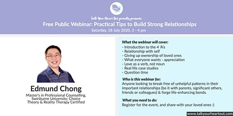 Free Public Webinar: Practical Tips to Build Strong Relationships tickets