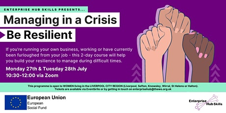 Enterprise Hub Skills: Managing in a Crisis – Be Resilient tickets