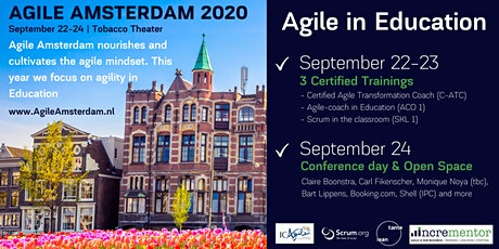 AGILE AMSTERDAM 2020 | 09.22 - 09.24 | Conference, Workshops and Open Space tickets