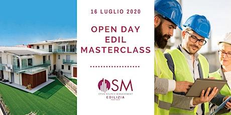 Open Day Edilmasterclass tickets