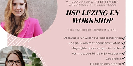 Heleen&Co HSP lezing (met Margreet Bronk, hsp coach) tickets